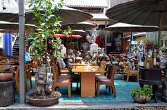 Кафе на дороге Khaosan улицы Стоковые Изображения