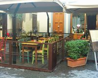 Кафе на площади del Duomo Стоковая Фотография