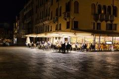 Кафе ночи Стоковые Изображения
