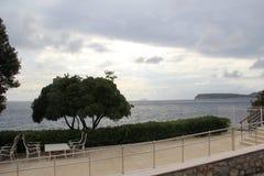кафе около моря Стоковое Изображение