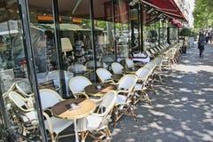 Кафе Париж франция Стоковая Фотография