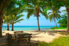 кафе пляжа стоковое фото rf