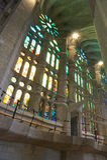 Кафедра Sagrada Familia, Барселона, Каталония, Испания Стоковое Изображение RF