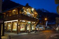 Кафе, ресторан в центре городка Стоковые Изображения RF