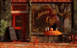 Кафе смеси осени иллюстрация вектора