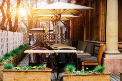 Кафе террасы лета Стоковая Фотография