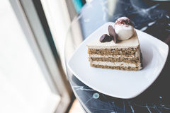 Кафе торта Стоковое Изображение RF