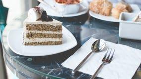 Кафе торта Стоковые Фото