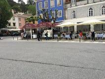 Кафе улицы на городе Sintra Стоковая Фотография RF
