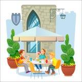 Кафе улицы Путешествия бесплатная иллюстрация