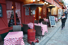 Кафе улицы в Париже Стоковое Изображение