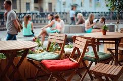 Кафе улицы Стоковое Изображение RF