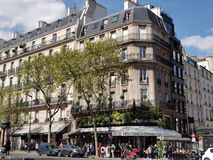 Кафе de Флора, Париж стоковые фото