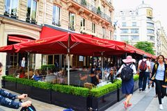 Кафе Fouquet Париж Франция Стоковые Фото