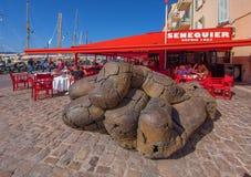 Кафе Senequier, St Tropez, Франция стоковые изображения rf