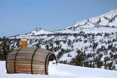 Каф-бочонок на лыжном курорте Стоковые Изображения