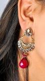 качает jewellery уха диаманта стоковые изображения rf