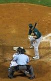 качание бейсбола готовое к Стоковое Изображение