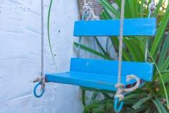Качание веревочки под деревом в саде Стоковая Фотография RF