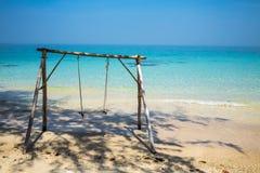 Качание на пляже Стоковые Фотографии RF