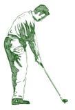 качание представления гольфа Стоковые Изображения RF