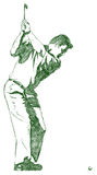 качание представления гольфа Стоковая Фотография RF