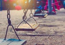 Качание установленное на layground Стоковое фото RF