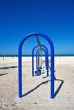 Качание установленное на пляж Стоковые Фото