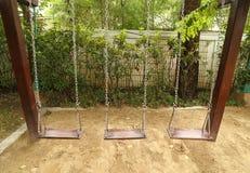 Качание установленное на спортивную площадку Стоковые Фотографии RF