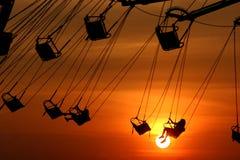 качания захода солнца Стоковые Фотографии RF