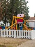 Качания на парке детей Стоковые Фото