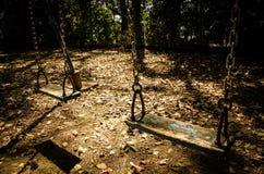 Качания на парке Стоковые Фотографии RF