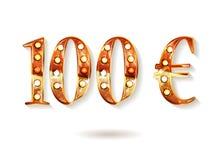 качество 100 в стиле одной монетки евро Стоковое фото RF