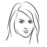 качество девушки новообращенного красотки более лучшее сырцовое Сторона женщины моды красивая чернила Стоковая Фотография RF