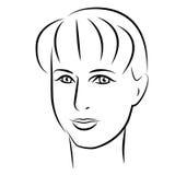 качество девушки новообращенного красотки более лучшее сырцовое Сторона женщины моды красивая чернила Стоковые Фотографии RF