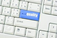 качество кнопки Стоковое фото RF