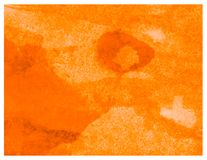 Качество текстуры оранжевой акварели руки вычерченной пастельное покрашенное стоковые фото