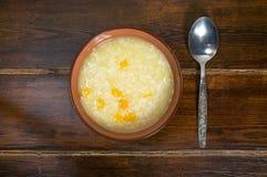 Каша риса с тыквой Стоковые Изображения