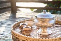 Каша тайского завтрака установленная Стоковое Фото