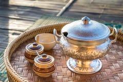 Каша тайского завтрака установленная Стоковые Фотографии RF