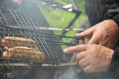 кашевар барбекю учит к Стоковое Фото
