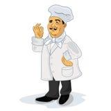 Кашевар шеф-повара, иллюстрация вектора бесплатная иллюстрация
