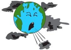 Кашлять земля планеты иллюстрация штока