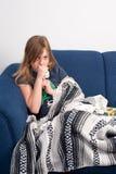 кашлять девушка Стоковая Фотография RF