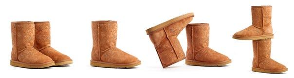 каштановое ugg ботинок Стоковые Изображения RF