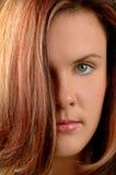 каштановые детеныши женщины портрета Стоковые Фото