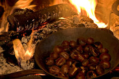 каштан зажарил в духовке Стоковое Фото