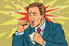 кашлять больной человека бесплатная иллюстрация