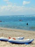 2 каяка на пляже Стоковая Фотография RF