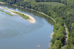Каяки на реке Стоковое фото RF